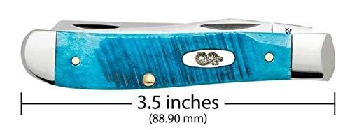 Item No 25593 Wr Case and Sons Cultery Co Mini Trapper Caribbean Blue Jig Bone