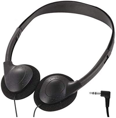 Deal Maniac Wholesale Over-Ear Headphones - Low-Cost Stereo Headphones for Students, Classroom, Library - 1 Pair of Black Headphones