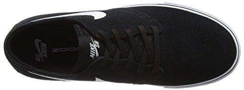 Nike Mens Zoom Oneshot Sb Skate Schoen Zwart / Wit / Gom Lichtbruin