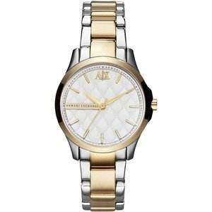 Armani Exchange White Dial Two-tone Ladies Watch AX5209