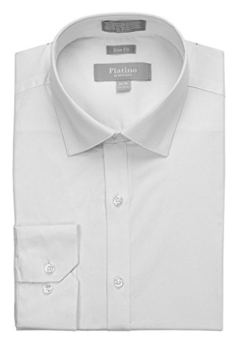 Marquis Men's Slim Fit Spandex Dress Shirt
