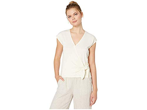 Lilla P Women's Flame 1x1 Rib Faux Wrap Top Rope ()