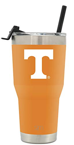 Simple Modern University of Tennessee 30oz Cruiser Tumbler with Straw & Flip Lid - Vacuum Insulated Stainless Steel Travel Mug - Tailgating Cup College Flask -