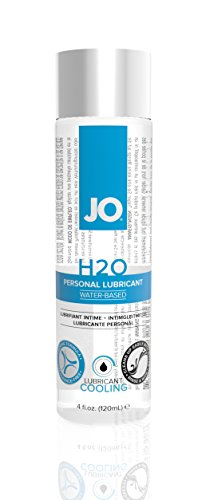 JO H2O Water Based Cooling Personal Lubricant, 4 Ounce Lube for Men, Women and Couples (Free of Glycerin and Fragrance)
