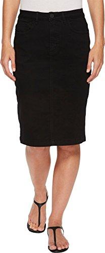 FDJ French Dressing Jeans Women's Onyx Denim Skirt In Black Black 8