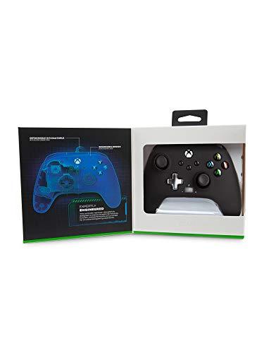 Controlador con cable PowerA mejorado para Xbox Series X / S - Negro, Gamepad, Controlador de videojuegos con cable, Controlador de juegos, Xbox Series X / S, Xbox One