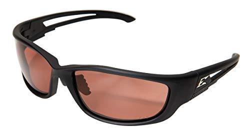 "Edge Eyewear TSK-XL215 Kazbek XL Polarized Safety Glasses, Black with Copper""Driving"" Lens"