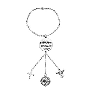 Guardian Angel Cross Car Charms for Rear View Mirror Be Confident in Whatever Direction You Choose to Go Car Hanging…