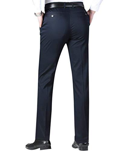 Décontracté Coupe Costume De Léger Classique Pantalon Schwarz Retro D'affaires Pour Plat Hommes Travail Ajustée d8Iw5q5