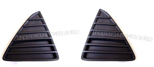 Underground Parts F-FC-24-PR Triangle Bumper Panels Grilles Pair Matt Black