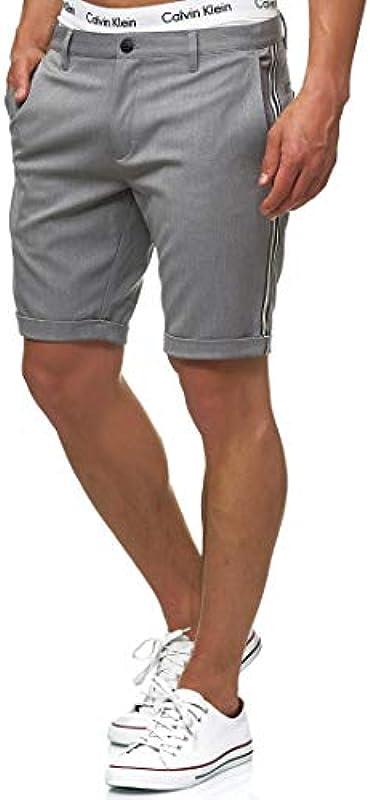 Indicode męskie szorty Chiltern Chino nakrapiane – wysokiej jakości mieszanka bawełny   krÓtkie spodenki Regular Fit Bermuda letnie spodenki męskie krÓtkie spodenki męskie: Odzież