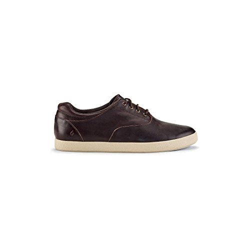 Olukai Heren Makani Lace Leather Brown