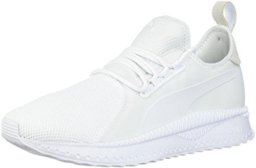 PUMA Men's Tsugi Apex Solid Sneaker, White White, 10.5 M (Solid White Mens Shoe)
