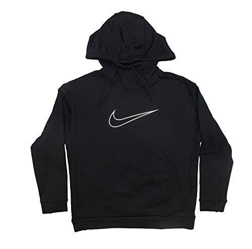 Nike Women's Therma Swoosh Fleece Training Hoodie Black/White Size Large by Nike