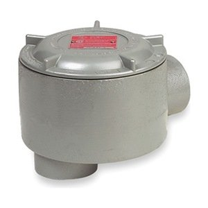 Killark GECLBT-3 LB Type Outlet Body, Copper-Free Aluminum, 1'' Hub, 19 cu. in, Gray