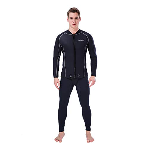 Iusun Men 's Wetsuit 3MM Long Sleeve Bodysuit Full Body Splice Swimwear Super Stretch UV Protection Perfect for Swimming/Scuba Diving/Snorkeling/Surfing