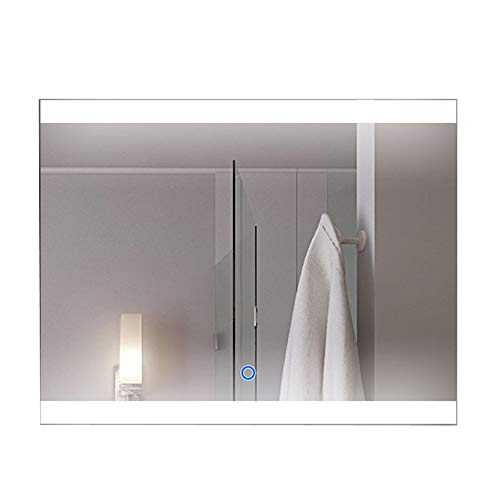 DECORAPORT 36 Inch * 28 Inch Horizontal LED Wall Mounted Lighted Vanity Bathroom Silvered Mirror...