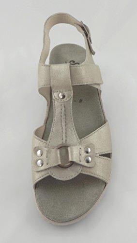 online store fd211 594e9 ... Semler Damen Sandale Heidi Komfort-Sandale Platin Leder Weite H