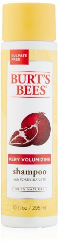 Burt's Bees Very Volumizing Shampoo, Pomegranate Scent, 10 Fluid Ounces - Buy Packs and SAVE (Pack of 4)