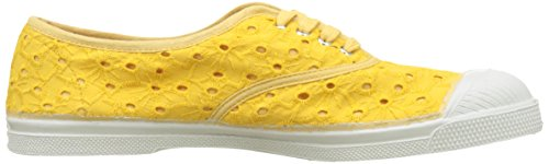 Tennis Bensimon jaune Anglaise Amarillo Para Mujer Broderie Lacets Zapatillas H77Fnd