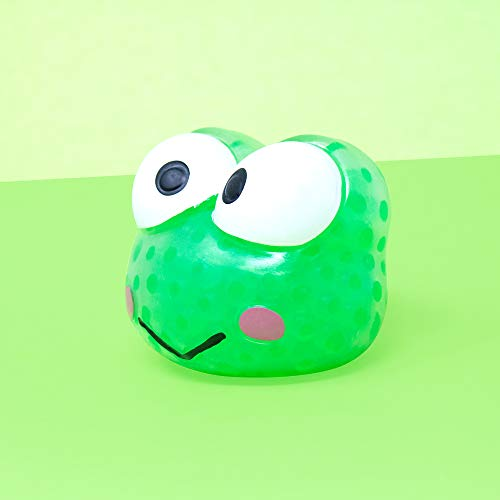 Sanrio Hello Kitty & Friends Water Bead Ball Cute Squishy Toy (Keroppi) for Party Favors, Stress Balls, Birthday Gifts, Play at Home & Relieve Stress with Kawaii Squishies for Kids, Boys, Girls