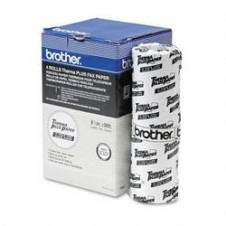 Brother 6840 6840 Thermal Fax Paper for Brother 660/650m/8000m/21000m, 4/pk - Retail Packaging