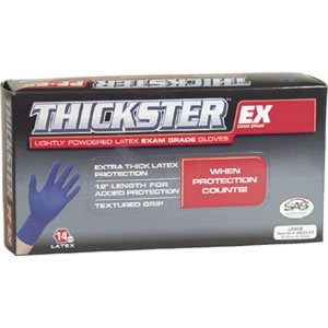 S.A.S. Safety Corp. 6603-10PK - Thickster Large Latex Gloves, Case Of 10 Boxes