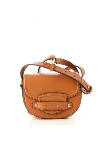 Michael Kors Cary Small Leather Saddle Bag- Acorn