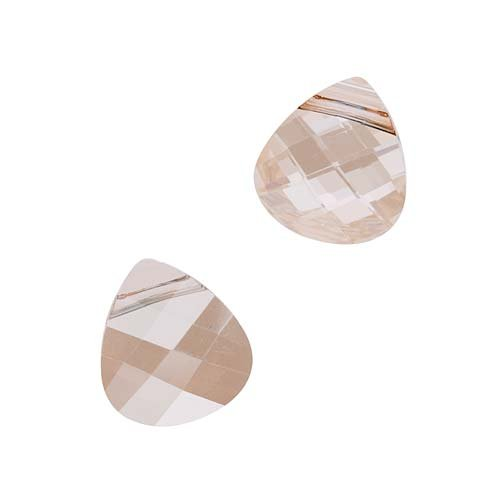 SWAROVSKI ELEMENTS Flat Crystal Briolette Beads #6012 11x10mm Golden Shadow (2) (Flat Briolette Bead Pendant)