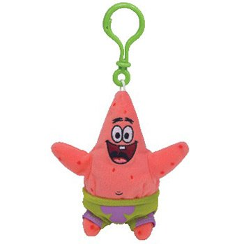TY Beanie Baby - PATRICK STAR ( SpongeBob Squarepants - Plastic Key Clip )