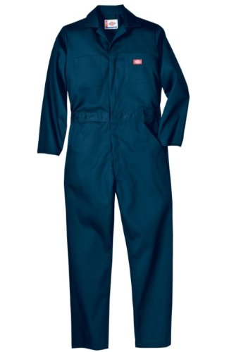 Dickies Men's Basic Blended Coverall, Dark Navy, L Tall