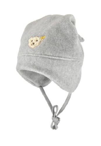 Steiff Unisex - Baby Mütze 0006865, Einfarbig, Gr. Xx-Large (Herstellergröße: 53), Grau (Steiff Softgrey Melange)