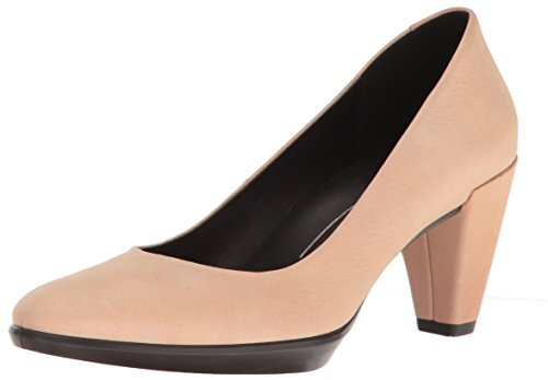 Calfskin Pumps - ECCO Women's Women's Shape 55 Plateau Dress Pump, Powder, 35 EU/4-4.5 M US