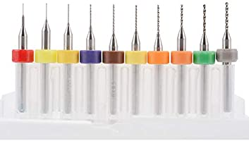 1# Mixed Sizes Shentesel 10Pcs 0.1-1.0mm Mixed 3D Printer Nozzle Cleaning Drill Bit Kit for MK7 MK8 RepRap