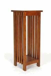 Charleston Flower Stand, Oak Finish (Plant Style Mission Stand)