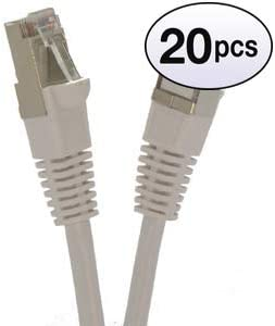 10 Gigabit//Sec High Speed LAN Internet//Patch Cable 24AWG Network Cable with Gold Plated RJ45 Molded//Booted Connector GOWOS Cat6 Shielded Ethernet Cable Red 5-Pack - 5 Feet 550MHz