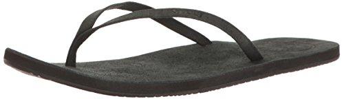 Uptown Sandal, Noir, 9 M US (Women Leather Flip Flops)