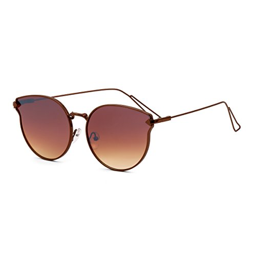 Royal Son UV Protected Oval Women Sunglasses (WHAT3515|58|Brown Lens)