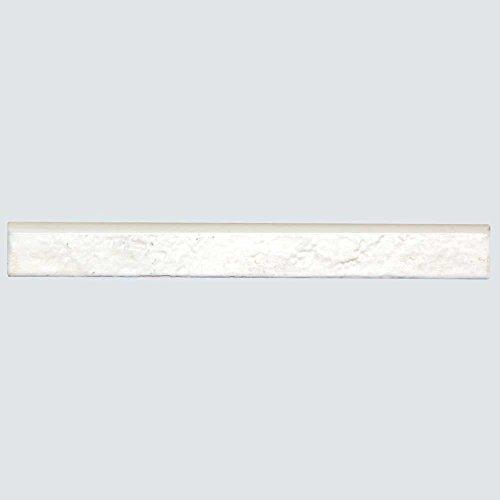 Broadway Brick White - Rustic Porcelain Bullnose for Subway Tile - Kitchen Backsplash, Wall, Shower - 1