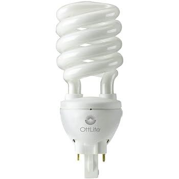 OttLite H34J3K 508 Illumination 25-Watt Self-Ballasted Swirl Bulb ...