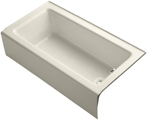 KOHLER K-876-47 Bellwether Bath with Integral Apron and Right-hand Drain, Almond