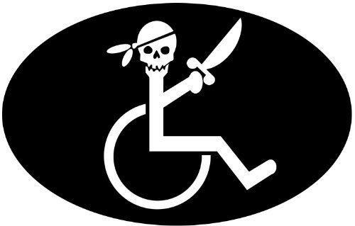 wheelchair bumper sticker - 2