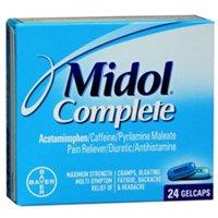 (Midol Menstrl Glcap Size 24s Midol Maximum Strength Menstrual Complete Pain Relief )