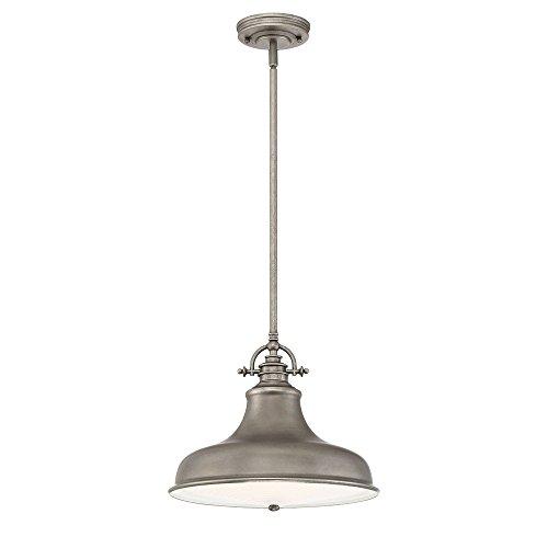 Quoizel ER1814DI Emery Vintage Pendant Lighting, 1-Light, 100 Watts, Distressed Nickel (12