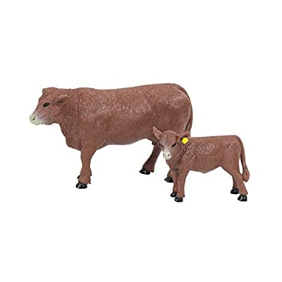 Big Country Toys Red Angus Cow & Calf - 1:20 Scale - Hand Painted - Farm Toys - Farm Animals: Toys & Games