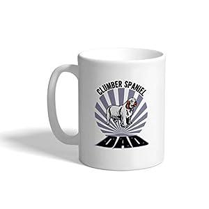 Custom Funny Coffee Mug Coffee Cup Dad Clumber Spaniel Dog White Ceramic Tea Cup 11 OZ Design Only 35