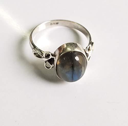 - Labradorite Ring.925 Sterling Silver.Smooth & Shiny Ring.Bohemian Tribal RIng.Simply Fabulous Collection.Statement Filigree Ring.Blue Flash Labradorite Ring.Minimalist Ring.US All Size Ring