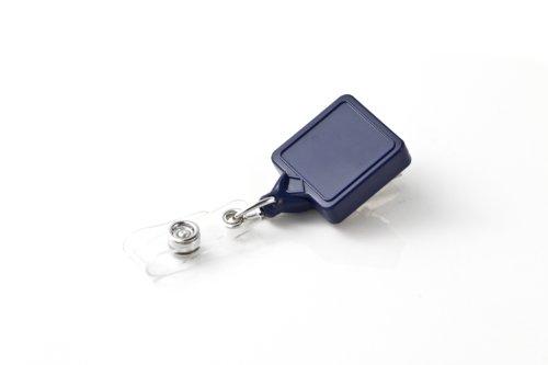 Square Retractable Badge Holder - KEY-BAK MINI-BAK Square Twist Free Retractable Badge Holder with 36