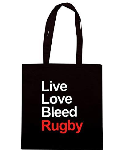 Shopper TRUG0116 LOVE Borsa BLEED RUGBY LIVE Nera FwEpqaUd