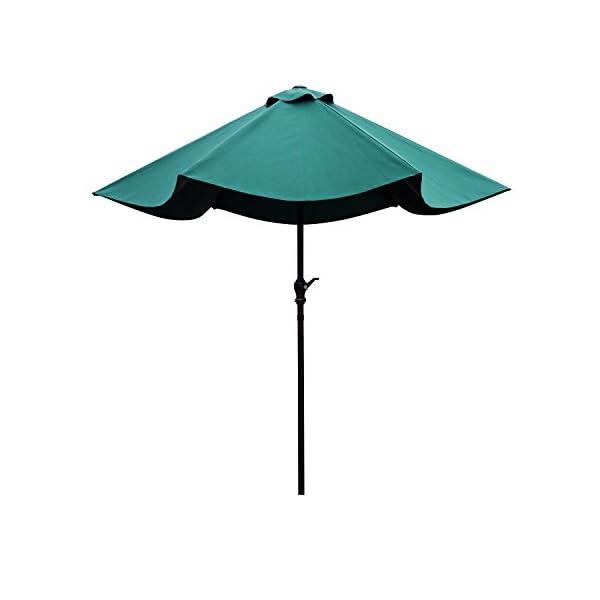 Outsunny Ombrellone da Giardino Inclinabile Spiaggia Alluminio e Poliestere Φ2.7×2.35m Verde Scuro 7 spesavip